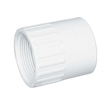 "1.5"" White ABS Socket Plain/Threaded"
